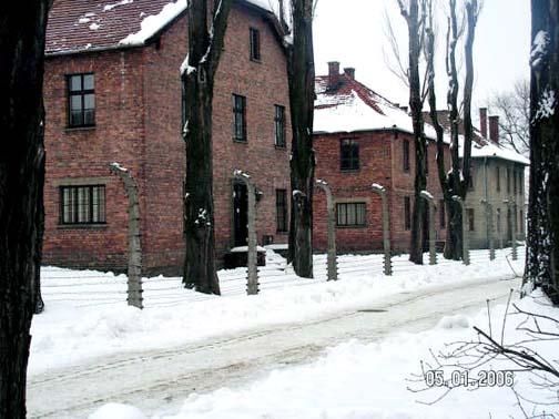 Barracks in main Auschwitz camp