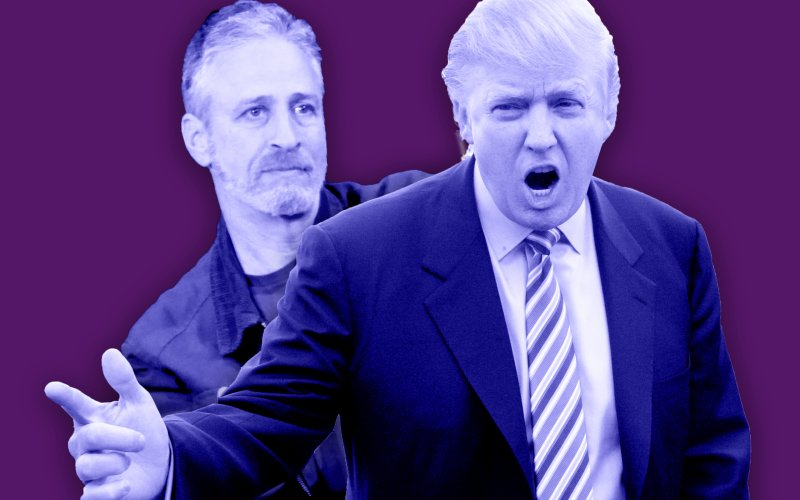 Jon Stewart and Donald Trump